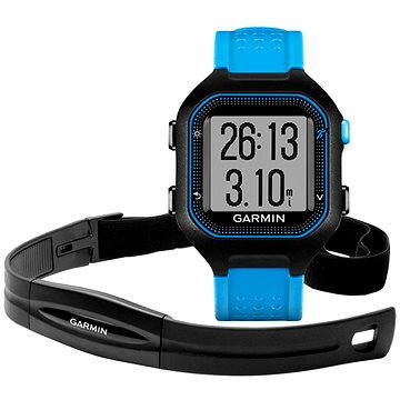 Sporttester Garmin Forerunner 25 HR Black/Blue (vel. XL) (010-01353-51)