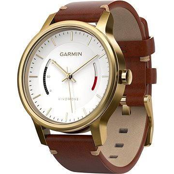 Chytré hodinky Garmin vivomove Premium Gold Tone Steel (010-01597-21)