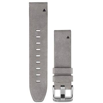 Garmin QuickFit 20 kožený, šedý semiš (010-12491-16)