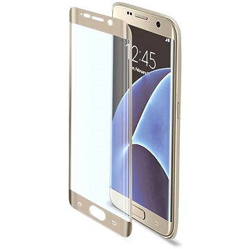 CELLY GLASS pro Samsung Galaxy S7 edge zlaté (GLASS591GD)