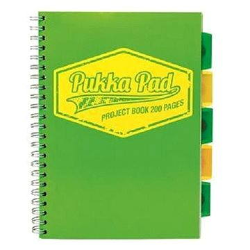 PUKKA PAD Project Book Neon A4 linkovaný, zelený (7079-NEO-LINED) + ZDARMA Sušenky NESTLÉ Cini Minis Promo ORBIT žvýkačky 14g - peppermintové dražé