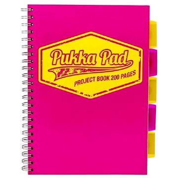 PUKKA PAD Project Book Neon A4 linkovaný, růžový (7080-NEO-LINED)