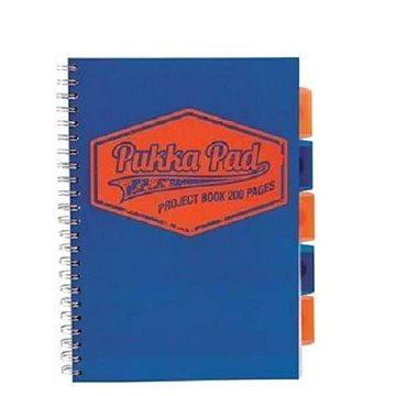 PUKKA PAD Project Book Neon A4 čtverečkovaný, modrý (7081-NEO) + ZDARMA Sušenky NESTLÉ Cini Minis Promo ORBIT žvýkačky 14g - peppermintové dražé