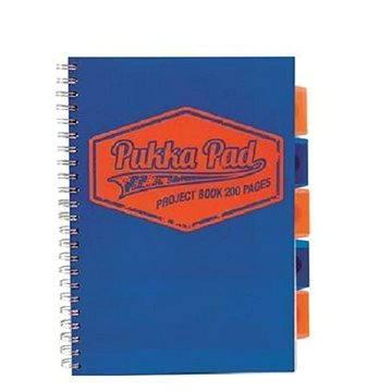 PUKKA PAD Project Book Neon A4 linkovaný, modrý (7081-NEO-LINED) + ZDARMA Sušenky NESTLÉ Cini Minis Promo ORBIT žvýkačky 14g - peppermintové dražé
