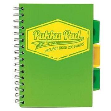 PUKKA PAD Project Book Neon A5 linkovaný, zelený (7144-NEO-LINED)
