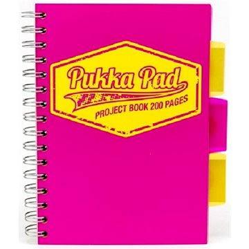 PUKKA PAD Project Book Neon A5 linkovaný, růžový (7145-NEO-LINED) + ZDARMA Sušenky NESTLÉ Cini Minis Promo ORBIT žvýkačky 14g - peppermintové dražé