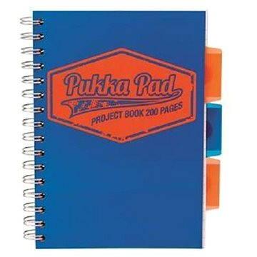 PUKKA PAD Project Book Neon A5 čtverečkovaný, modrý (7146-NEO) + ZDARMA Sušenky NESTLÉ Cini Minis Promo ORBIT žvýkačky 14g - peppermintové dražé
