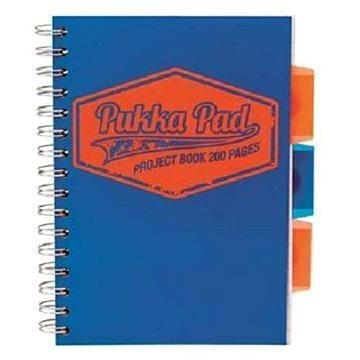PUKKA PAD Project Book Neon A5 linkovaný, modrý (7146-NEO-LINED) + ZDARMA Sušenky NESTLÉ Cini Minis Promo ORBIT žvýkačky 14g - peppermintové dražé