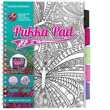 PUKKA PAD Project Book A4 linkovaný, k vybarvení (8230-PER) + ZDARMA Promo ORBIT žvýkačky 14g - peppermintové dražé