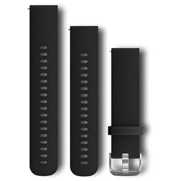 Garmin Quick Release Band (20 mm), černý, stříbrná přezka (010-12561-02)
