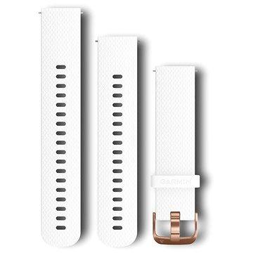 Garmin Quick Release Band (20 mm), bílý, rosegold přezka (010-12561-05)