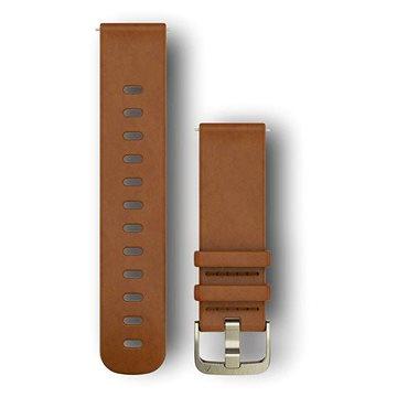 Garmin Quick Release Band (20 mm), kožený hnědý, goldtone přezka (010-12691-02)