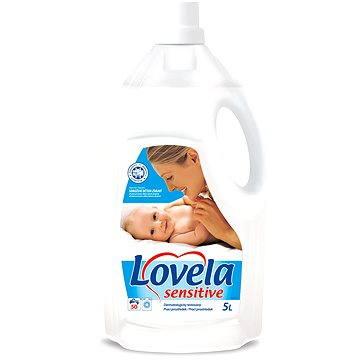 Lovela Sensitive tekutý prací prostředek 5 l + ZDARMA Prací prostředek LOVELA na bíle prádlo 120 ml (1 praní)