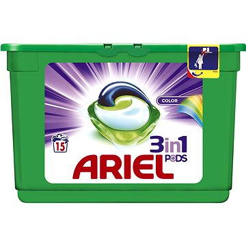 Kapsle na praní Ariel Color 3in1 (15 ks) (4015600670689)