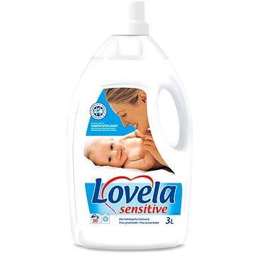 Prací gel LOVELA Sensitive 3 l (30 praní) (8594002688653) + ZDARMA Prací prostředek LOVELA na bíle prádlo 120 ml (1 praní)