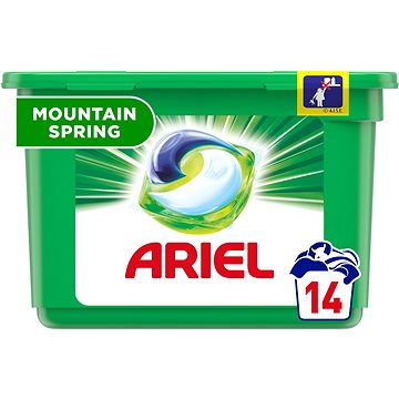 Kapsle na praní ARIEL Mountain Spring 3in1 14 ks (14 praní) (8001090348906)