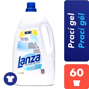 Prací gel LANZA Expert Gel White 3,96 l (60 praní) (8592326016640) + ZDARMA Dárek VANISH prášek 30 g