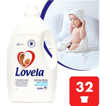 Prací gel LOVELA Gel Bílá 3 l (32 praní) (5900627052626)