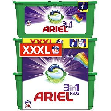 Sada ARIEL Color 3in1 28 + 2×28 ks (celkem 84 praní)