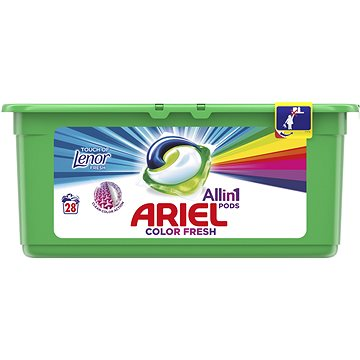 Kapsle na praní ARIEL Touch of Lenor 3in1 28 ks (8001090309631) + ZDARMA Aviváž LENOR Pure 50 ml