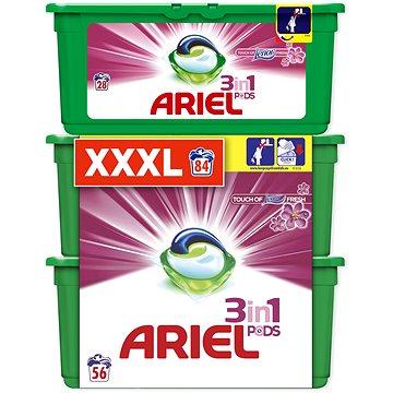 Sada drogerie ARIEL Touch of Lenor 3in1 28 ks + 2x28 ks (celkem 84 praní)