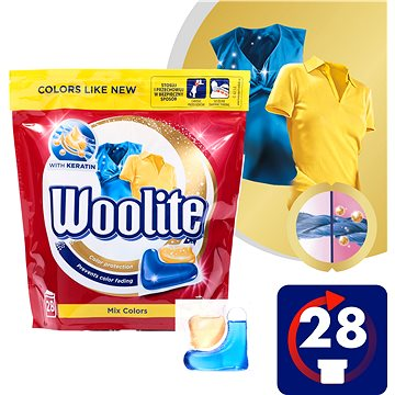 Kapsle na praní WOOLITE Mix Colors 28 ks (5900627070569)