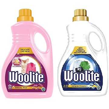 Sada WOOLITE Extra Delicate 2 l (33 praní) + WOOLITE Extra Complete 2 l (33 praní)