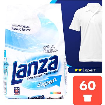 Prací prášek LANZA Expert Bílá 4,5 kg (60 praní) (5997321712420)