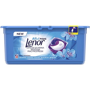 Kapsle na praní LENOR Waterlily 3v1 28 ks (8001090919793)