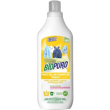 BIOPURO Organický tekutý prací gel pro citlivou pokožku a miminka 1 l (35 praní) (8057432977068)