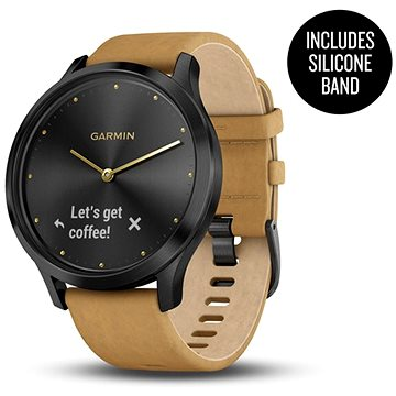 Garmin vívomove Optic Premium Onyx Black Tan Suede (010-01850-00)