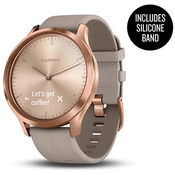 Garmin vívomove Optic Premium Rose Gold Gray Suede (010-01850-09)