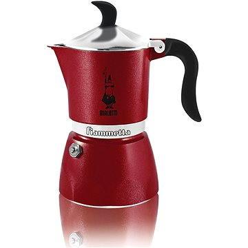Bialetti Fiammetta Rosso 3 šálky, tmavě červená (8006363006576)