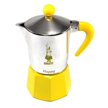 Bialetti Happy pro 3 šálky, žlutá (8006363012454)