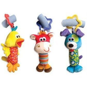 Playgro Cestovní závěsné hračky 3 ks (9321104810595)