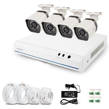 ZMODO 4-kanálový rekordér NVR + 4x IR IP kamera s PoE 2.Gen
