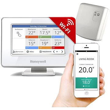 Honeywell EvohomeTouch řídící jednotka WiFi s napájením + releová jednotka (CZ) (ATP921R3052)