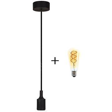RABALUX Roxy černá + žárovka V-TAC 5W