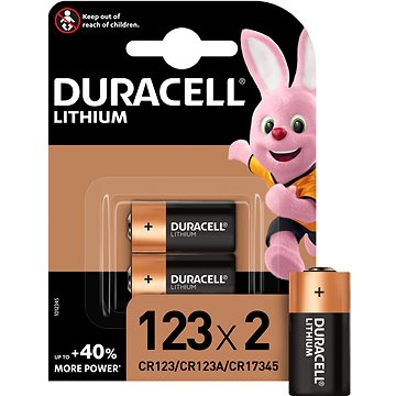 Duracell Ultra CR123A 2 ks (81510034)