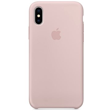 iPhone X Silikonový kryt pískově růžový (MQT62ZM/A)