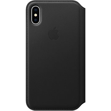 iPhone X Kožené puzdro Folio čierne(MQRV2ZM/A)