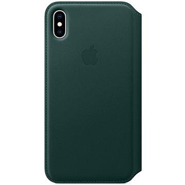 iPhone XS Kožené pouzdro Folio piniově zelené (MRWY2ZM A) fb992b88343