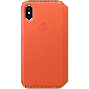 iPhone XS Kožené puzdro Folio tmavo oranžové(MVFC2ZM/A)