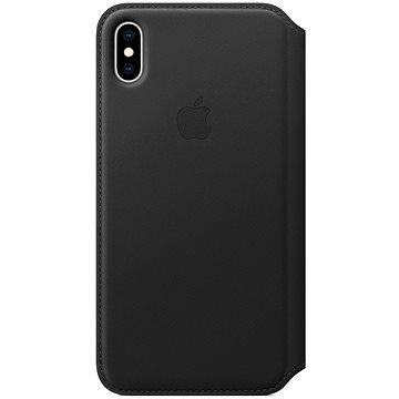 iPhone XS Max Kožené puzdro Folio čierne(MRX22ZM/A)