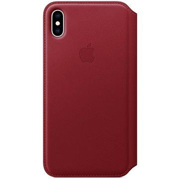 iPhone XS Max Kožené puzdro Folio červené(MRX32ZM/A)