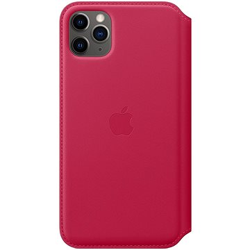 Apple iPhone 11 Pro Max kožené puzdro Folio malinový(MY1N2ZM/A)