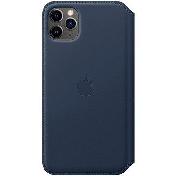 Apple iPhone 11 Pro Max kožené puzdro Folio hlbinne modré(MY1P2ZM/A)