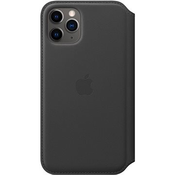 Apple iPhone 11 Pro Kožené puzdro Folio čierne(MX062ZM/A)