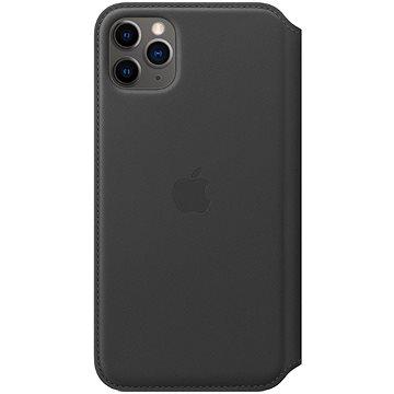 Apple iPhone 11 Pro Max Kožené puzdro Folio čierne(MX082ZM/A)