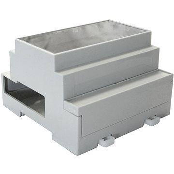 MULTICOMP Pouzdro pro Raspberry Pi B+/Pi 2 nebo Pi 3 na DIN lištu do rozváděče, šedé (RB-BOX-DIN-TRANS)